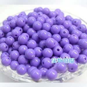 Acrylic beads, purple, Spherical, Diameter 6mm, 7g, 50 beads, (SLZ0010)